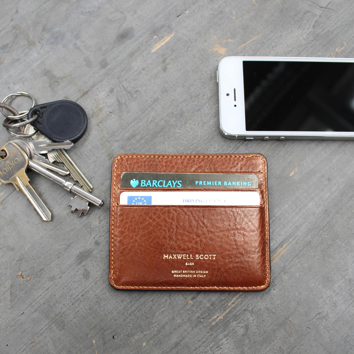 Image 7 of the 'Marco' Chestnut Veg-Tanned Leather Wallet