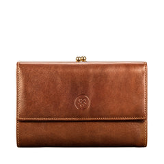 Image 1 of the 'Marcialla' Large Chestnut Veg-Tanned Leather Italian Purse