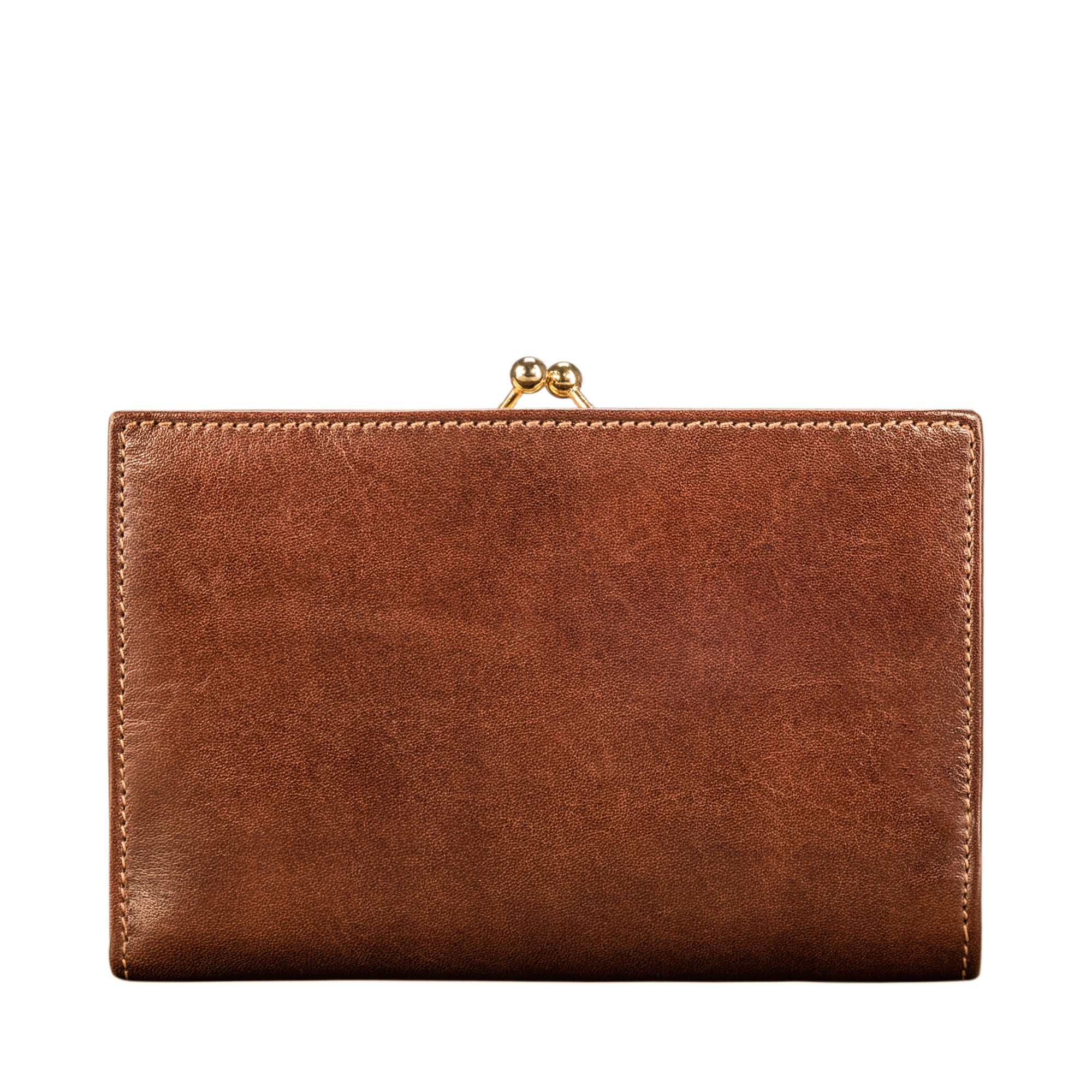 Image 2 of the 'Marcialla' Large Chestnut Veg-Tanned Leather Italian Purse