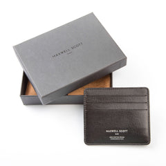 Image 6 of the 'Marco' Black Veg-Tanned Leather Wallet