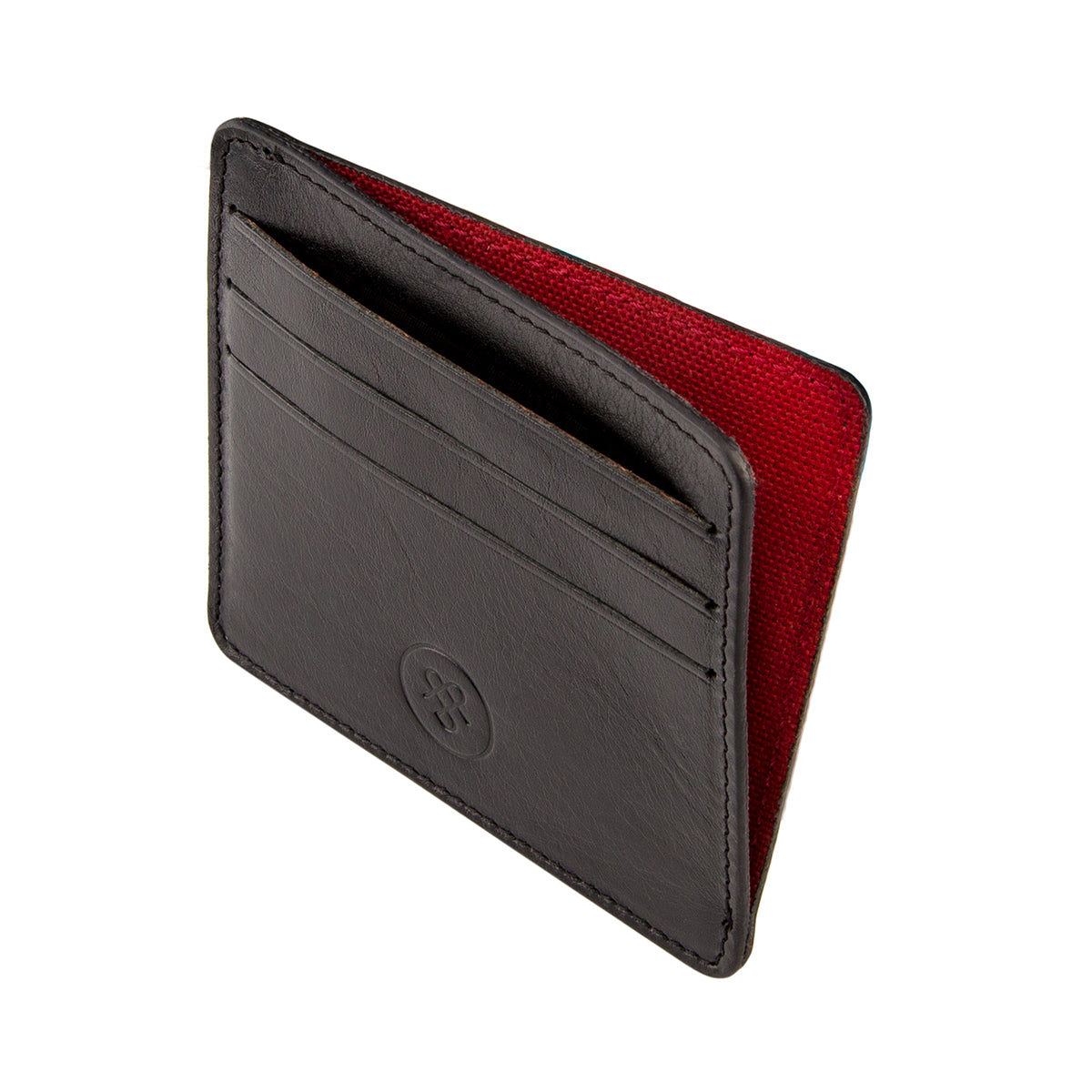 Image 3 of the 'Marco' Black Veg-Tanned Leather Wallet