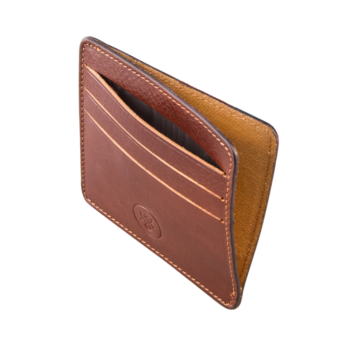 Image 3 of the 'Marco' Chestnut Veg-Tanned Leather Wallet