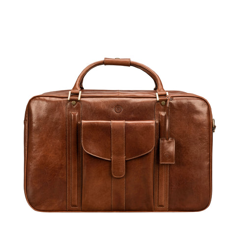 Image 1 of the 'Maurizio' Chestnut Italian Veg-Tanned Leather Suitcase