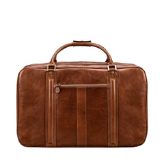 Image 3 of the 'Maurizio' Chestnut Italian Veg-Tanned Leather Suitcase