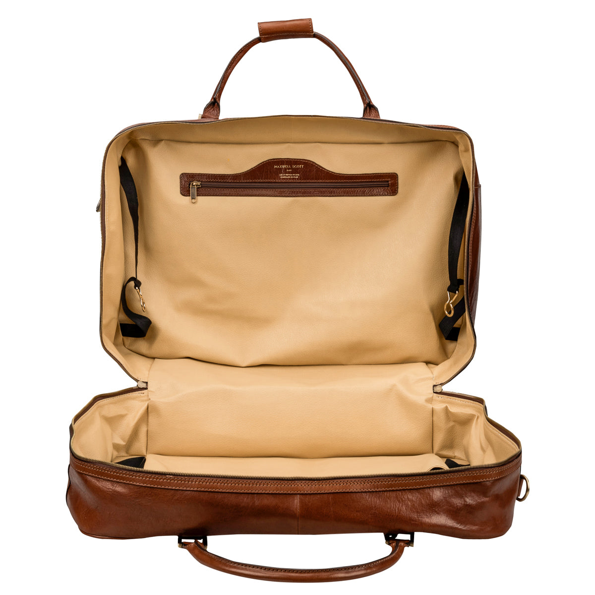 Image 4 of the 'Maurizio' Chestnut Italian Veg-Tanned Leather Suitcase