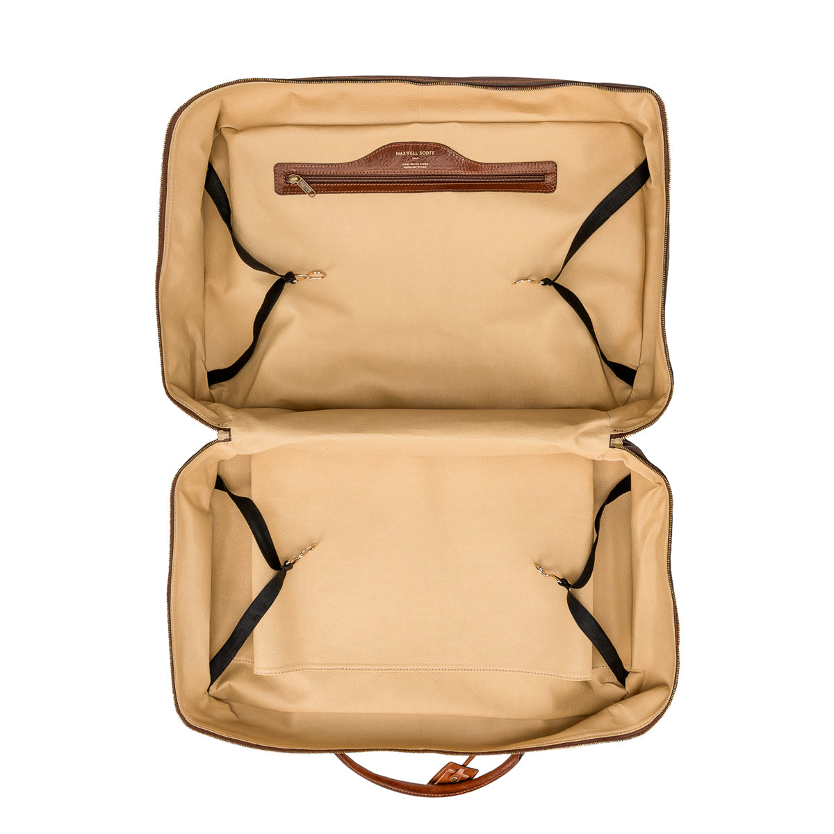 Image 5 of the 'Maurizio' Chestnut Italian Veg-Tanned Leather Suitcase