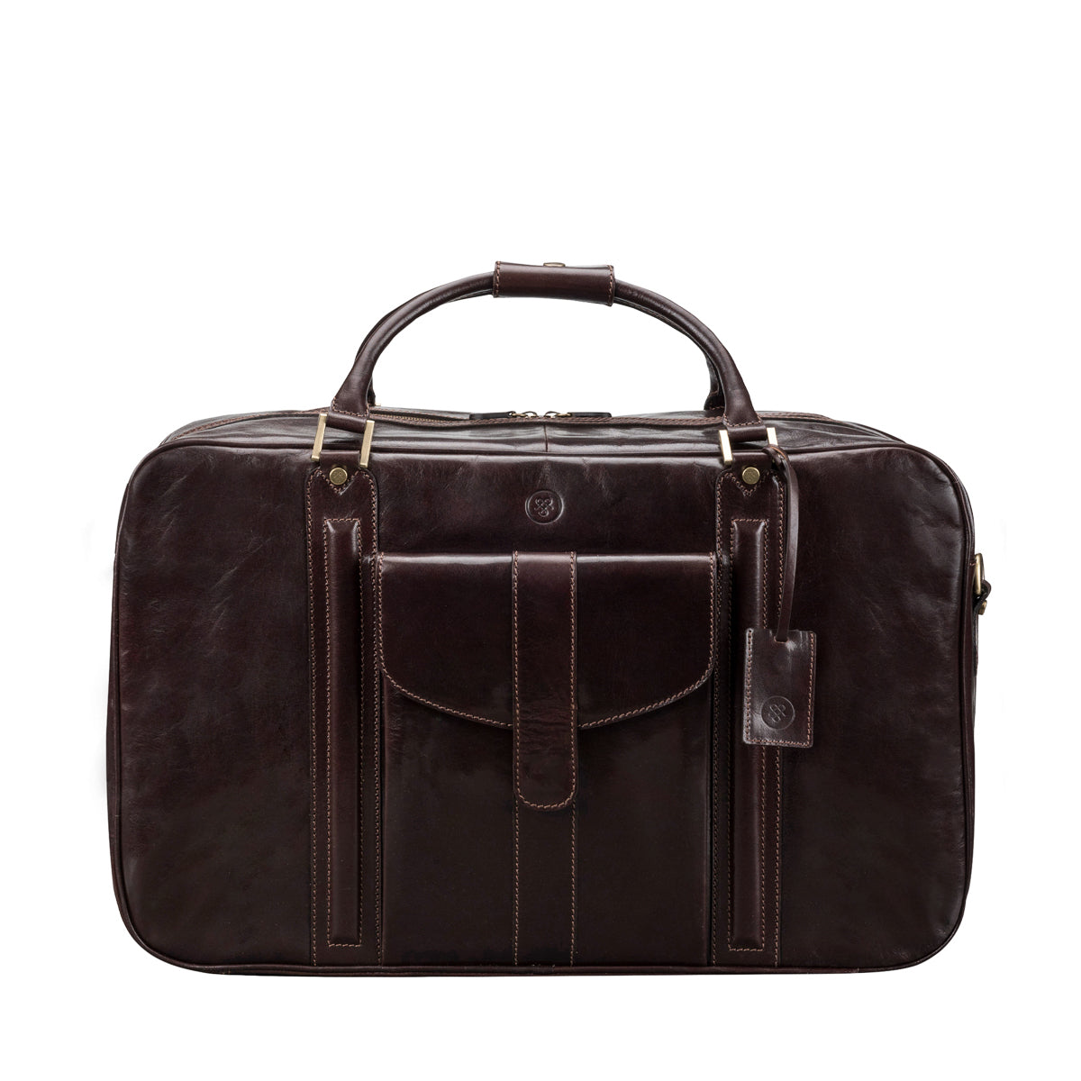 Image 1 of the 'Maurizio' Dark Chocolate Italian Veg-Tanned Leather Suitcase