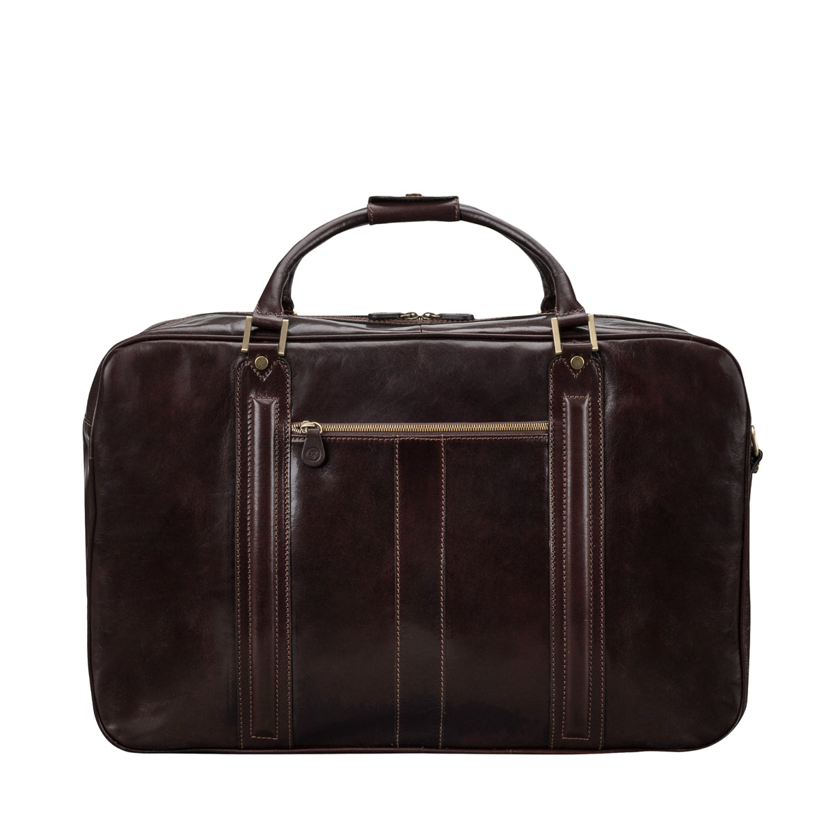 Image 4 of the 'Maurizio' Dark Chocolate Italian Veg-Tanned Leather Suitcase