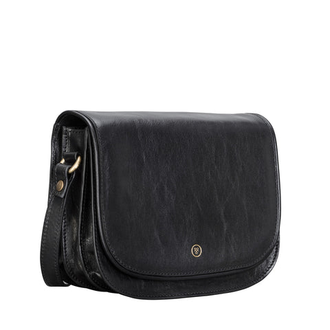 Image 2 of the 'Medolla' Black Veg-Tanned Leather Saddle Handbag