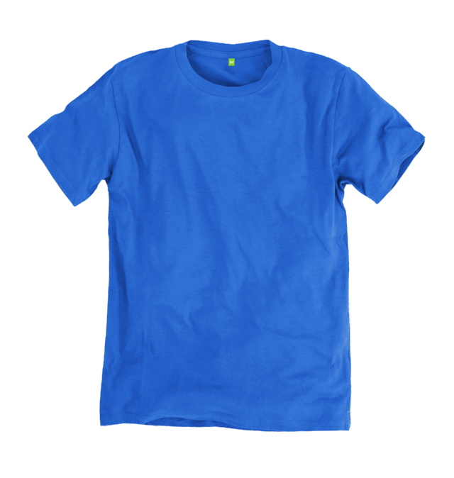 Image 1 of the Men's Organic Cotton Ethical Bright Blue T-Shirt