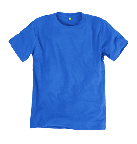 Image 1 of the Women's Organic Cotton Bright Blue Boyfriend T-Shirt
