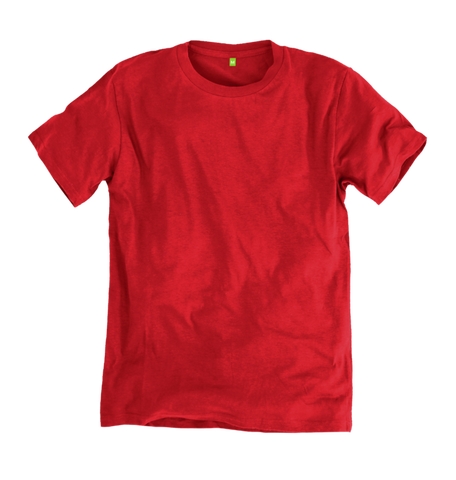 Image 1 of the Men's Organic Cotton Ethical Fierce Red T-Shirt