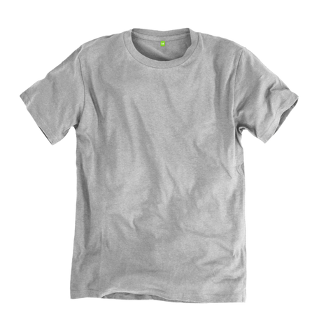 Image 1 of the Men's Organic Cotton Ethical Light Grey T-Shirt