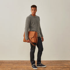 Image 9 of the 'Ravenna' Men's Leather Classic Satchel Bag