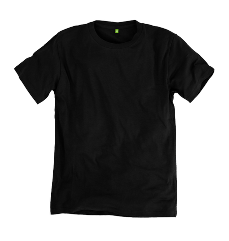 Image 1 of the Women's Organic Cotton Black Boyfriend T-Shirt