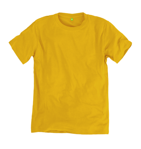 Image 1 of the Women's Organic Cotton Yellow Boyfriend T-Shirt