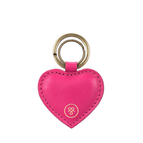 Image 1 of the 'Mimi' Heart Leather Key Ring