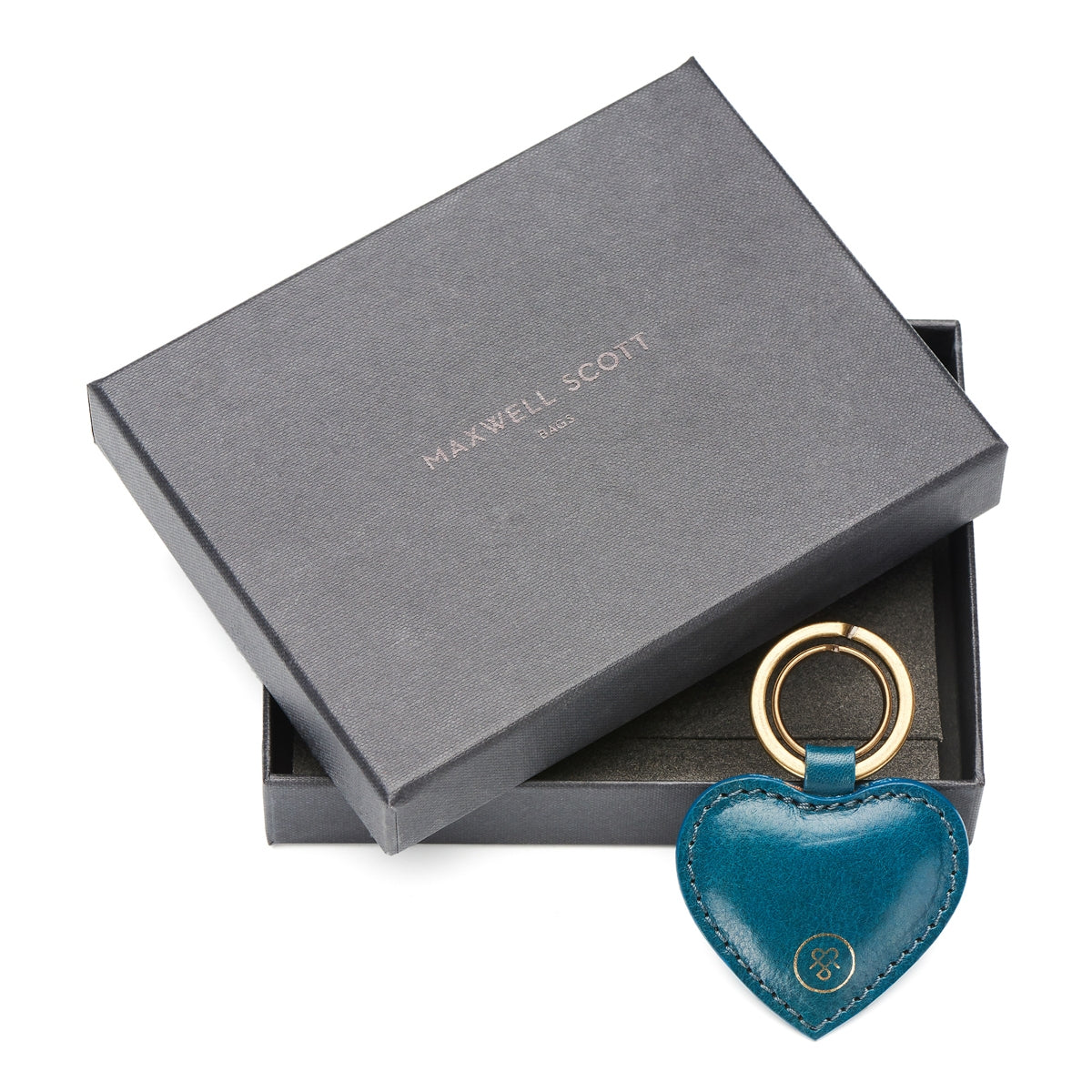 Image 6 of the 'Mimi' Leather Heart Key Ring