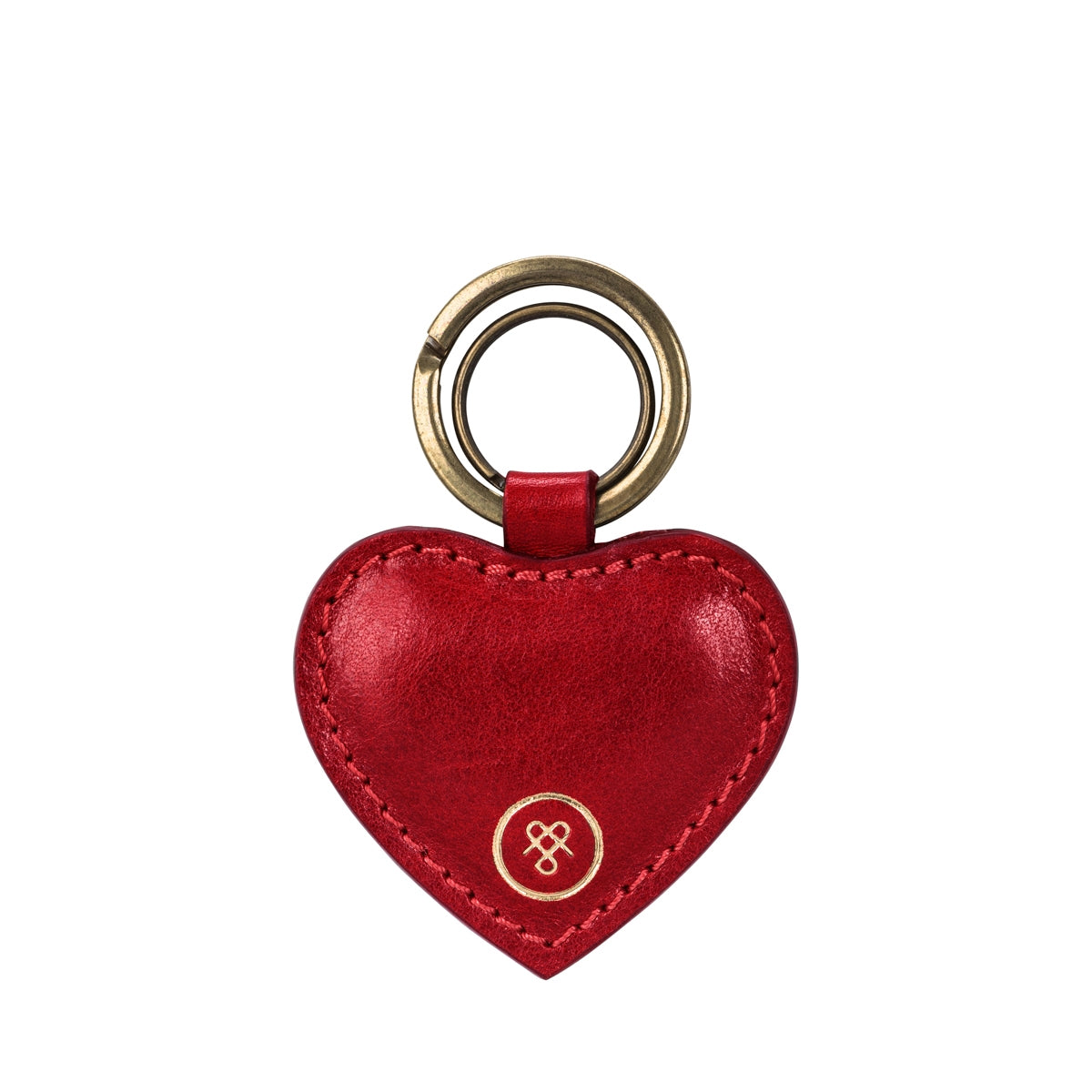 Image 1 of the 'Mimi' Veg-Tanned Leather Heart Key Ring