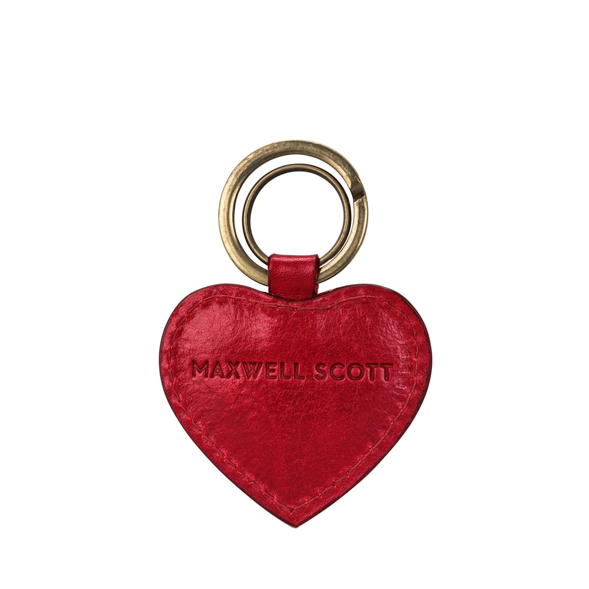 Image 4 of the 'Mimi' Veg-Tanned Leather Heart Key Ring