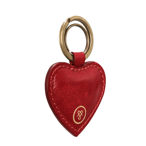 Image 2 of the 'Mimi' Veg-Tanned Leather Heart Key Ring