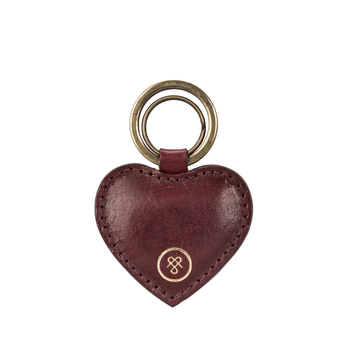 Image 1 of the 'Mimi' Leather Heart Key Ring