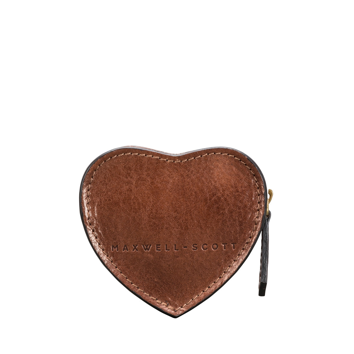Image 4 of the 'Mirabella' Tan Leather Heart Coin Purse