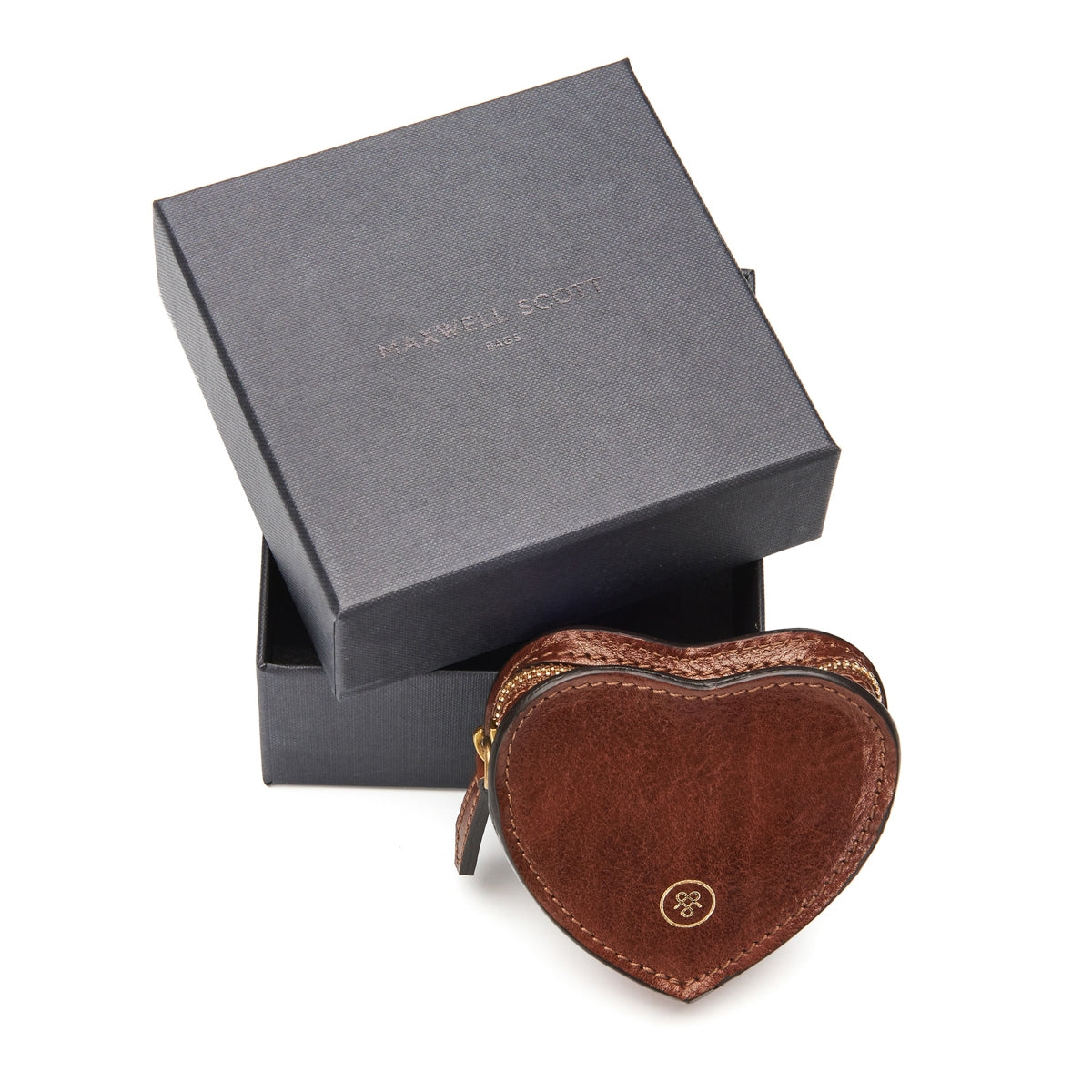 Image 6 of the 'Mirabella' Tan Leather Heart Coin Purse