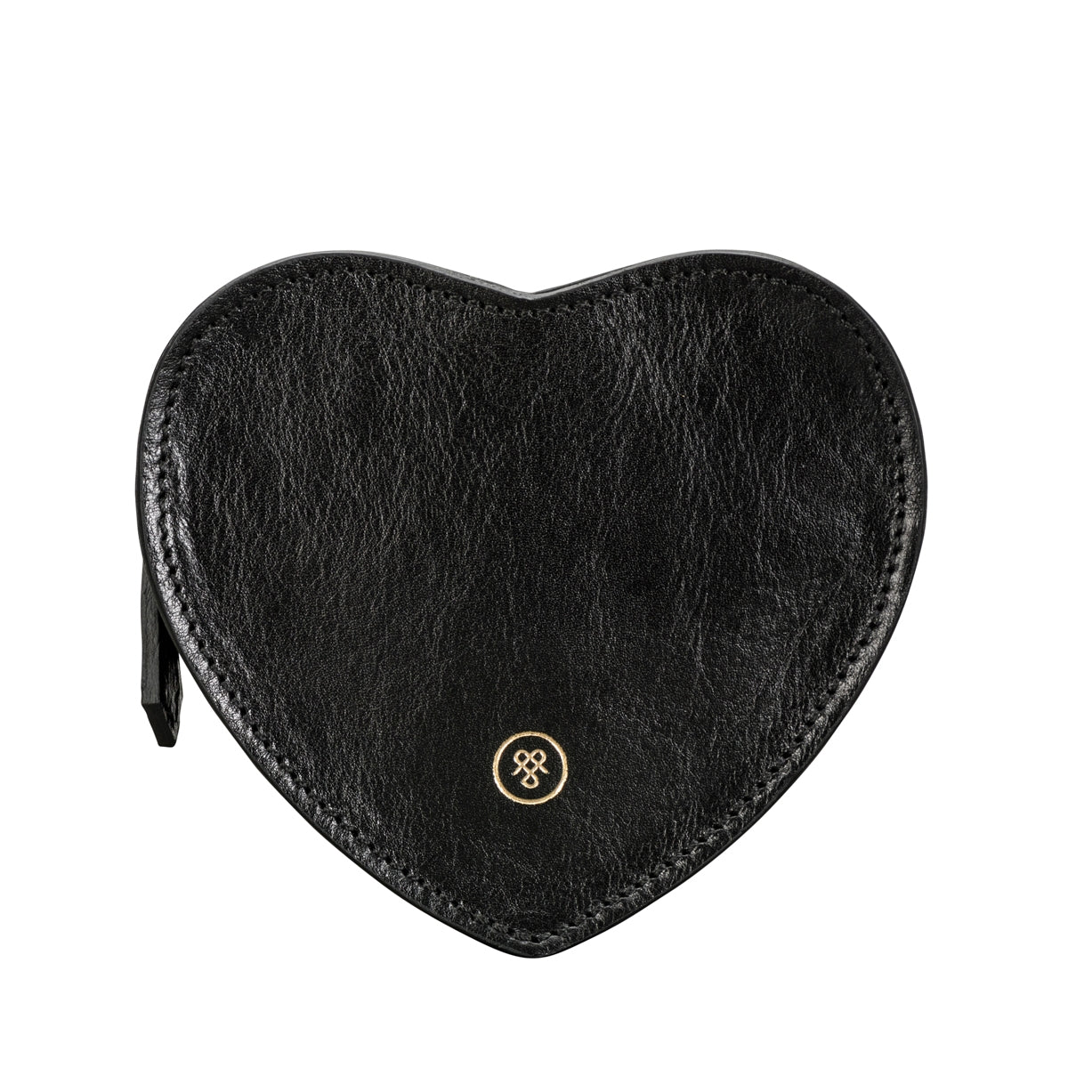 Image 1 of the 'MirabellaL' Black Leather Heart-shaped Handbag Organiser