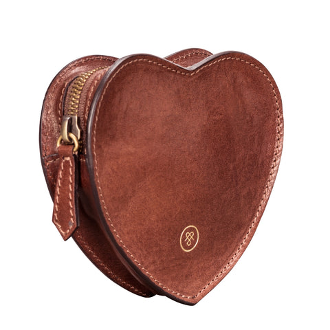Image 2 of the 'MirabellaL' Tan Leather Heart-shaped Handbag Tidy