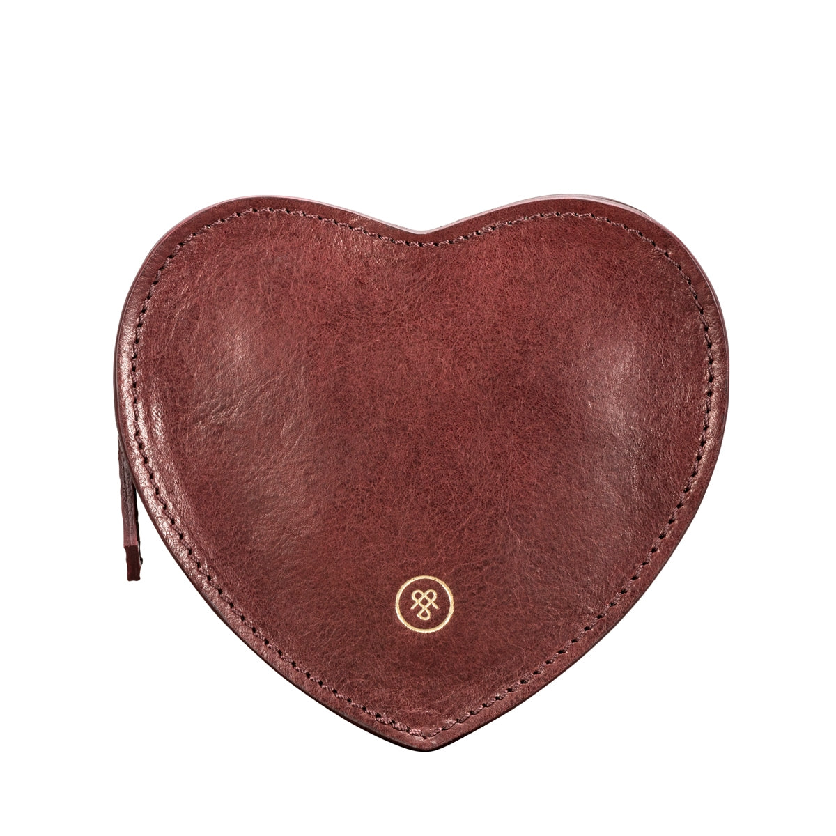 Image 1 of the 'MirabellaL' Wine Leather Heart-shaped Handbag Organiser