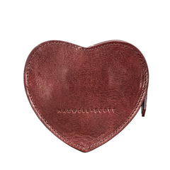 Image 4 of the 'MirabellaL' Wine Leather Heart-shaped Handbag Organiser
