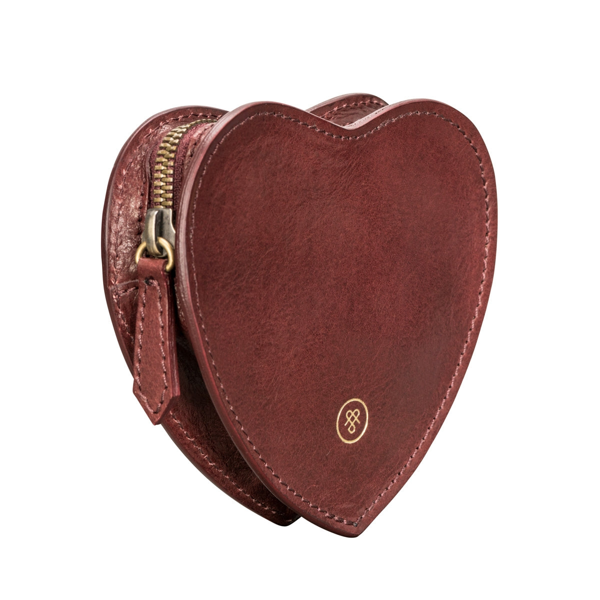 Image 2 of the 'MirabellaL' Wine Leather Heart-shaped Handbag Organiser