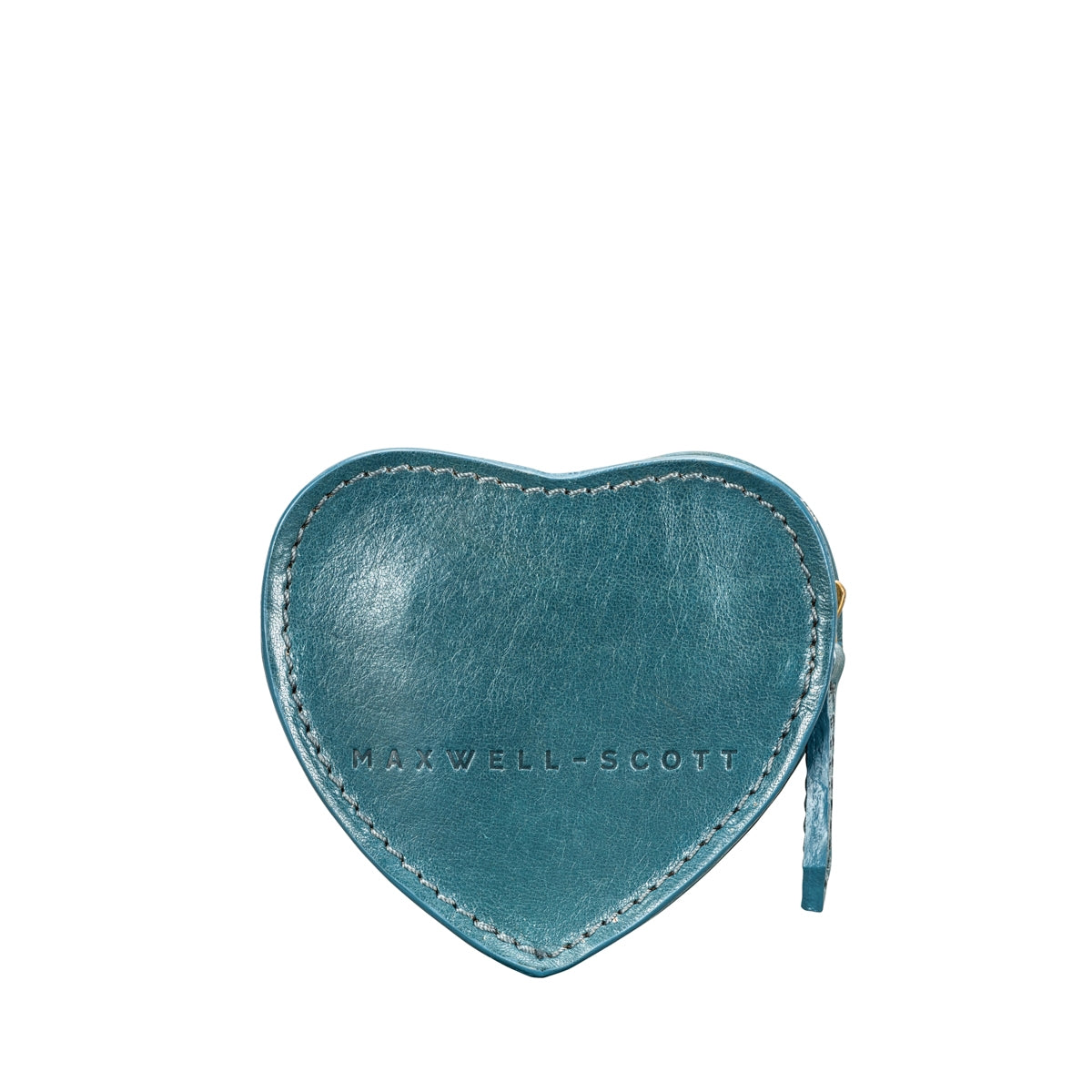 Image 3 of the 'Mirabella' Petrol Leather Heart-Shaped Coin Purse