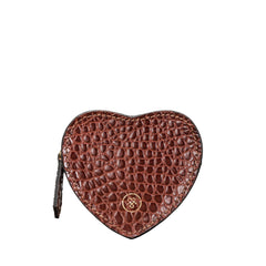 Image 1 of the 'Mirabella' Heart Shaped Croco Leather Coin Purse