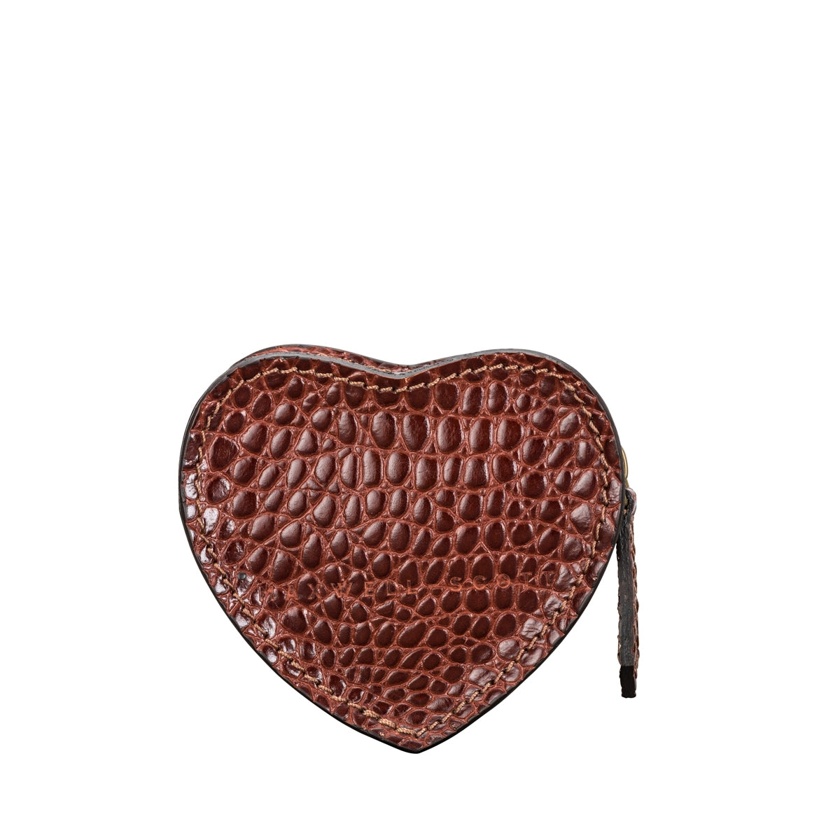 Image 4 of the 'Mirabella' Heart Shaped Croco Leather Coin Purse