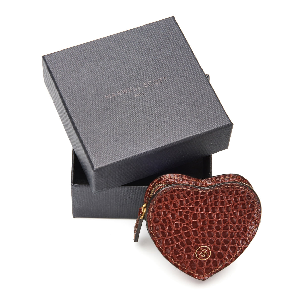 Image 6 of the 'Mirabella' Heart Shaped Croco Leather Coin Purse