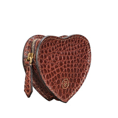 Image 2 of the 'Mirabella' Heart Shaped Croco Leather Coin Purse
