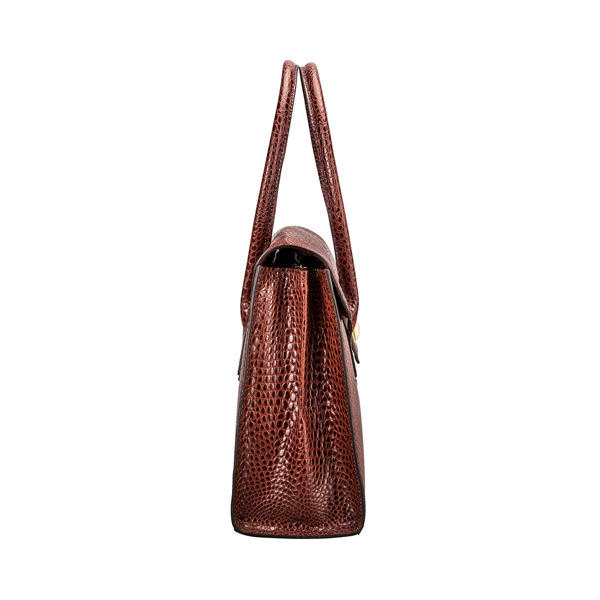 Image 4 of the 'Fabia' Chestnut Croco Veg-Tanned Leather Workbag