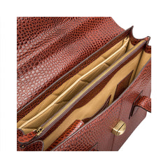 Image 3 of the 'Fabia' Chestnut Croco Veg-Tanned Leather Workbag