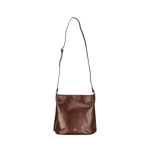 Image 1 of the 'Palermo' Handmade Chestnut Veg-Tanned Leather Shoulder Bag