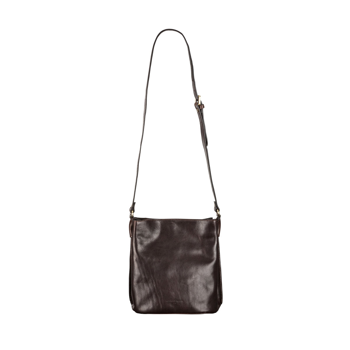 Image 4 of the 'Palermo' Handmade Dark Chocolate Veg-Tanned Leather Shoulder Bag