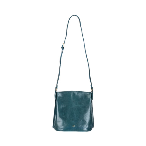 Image 1 of the 'Palermo' Petrol Leather Ladies Bucket Bag Handbag