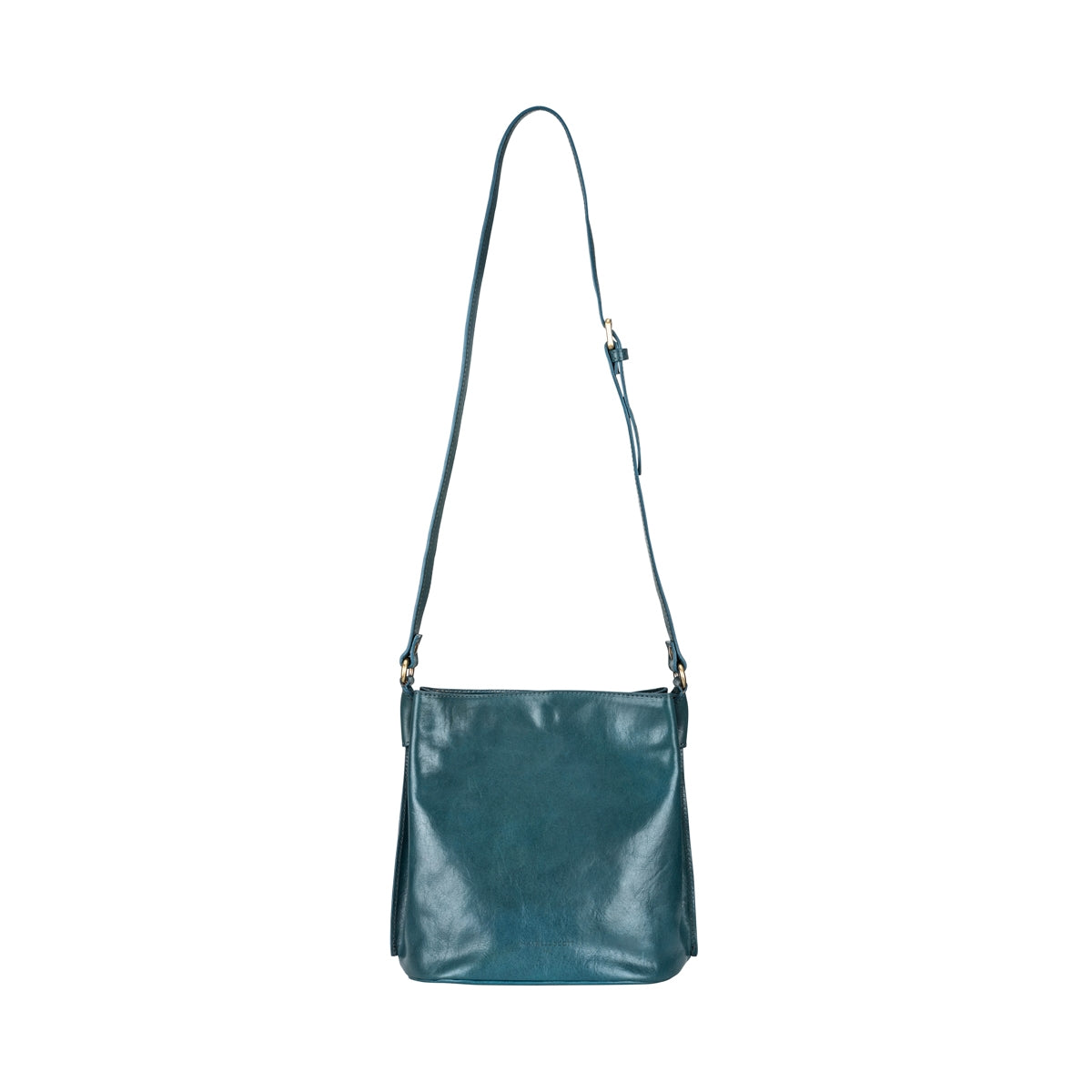 Image 4 of the 'Palermo' Petrol Leather Ladies Bucket Bag Handbag
