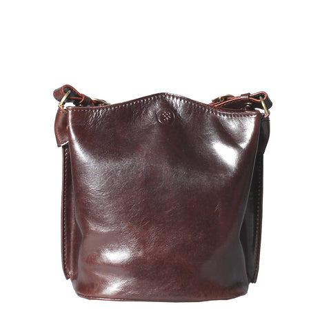 Image 1 of the 'Palermo' Ladies Brown Leather Bucket Bag