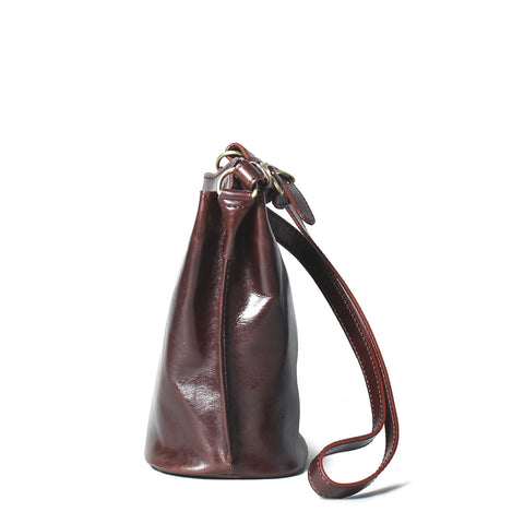 Image 2 of the 'Palermo' Ladies Brown Leather Bucket Bag