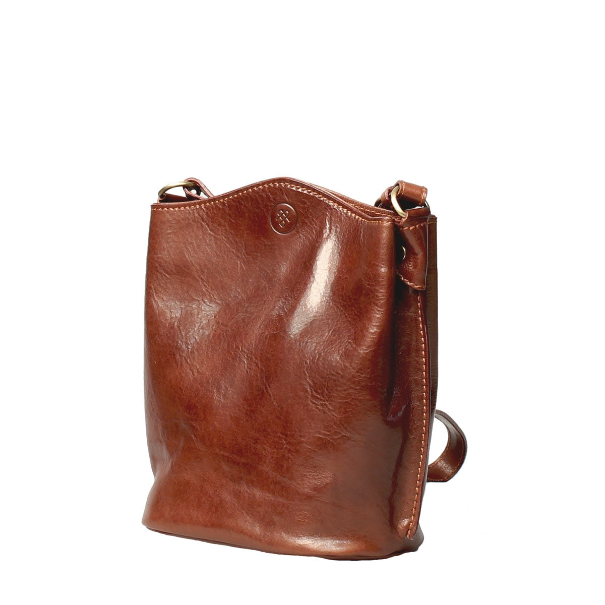 Image 3 of the 'Palermo' Tan Leather Bucket Bag