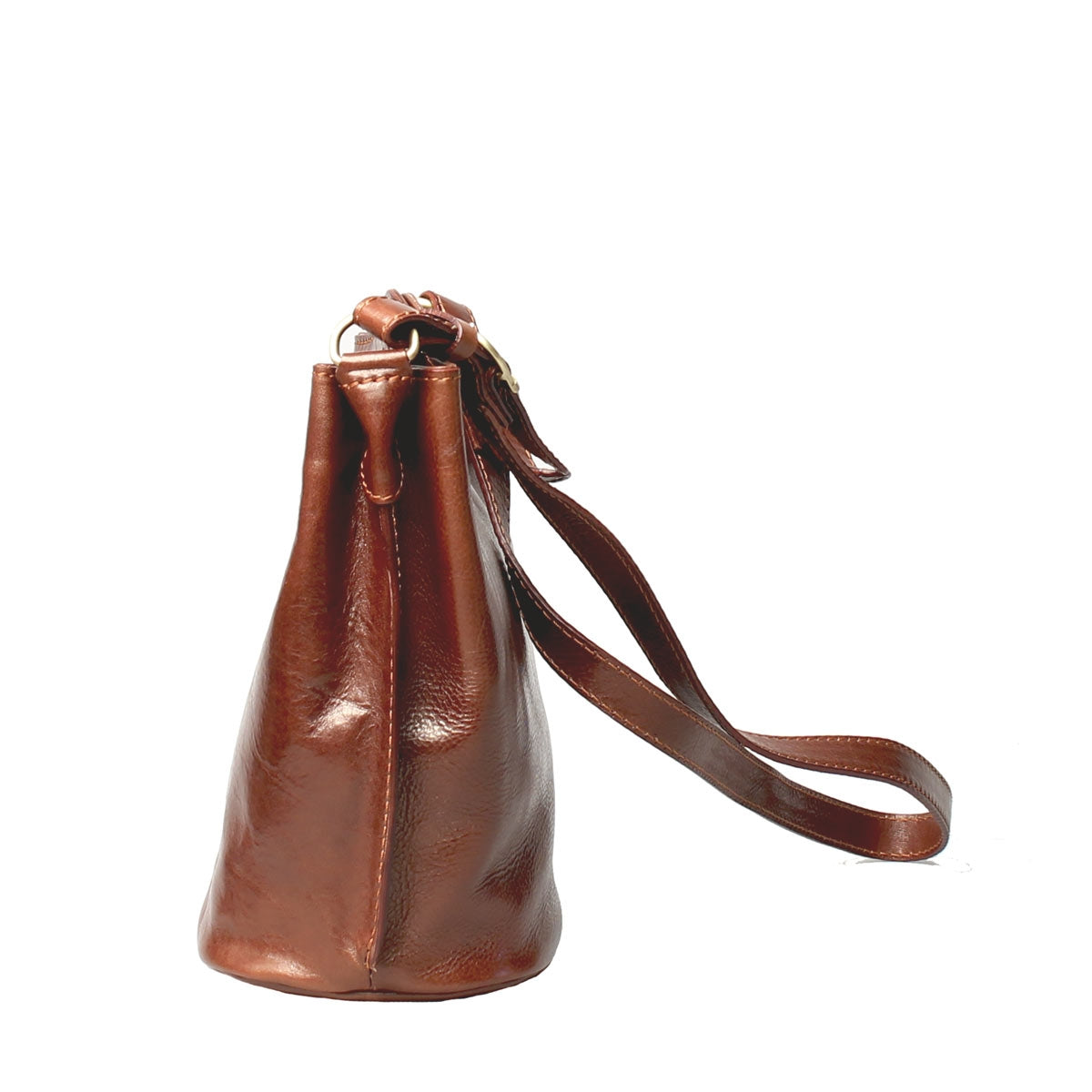 Image 2 of the 'Palermo' Tan Leather Bucket Bag
