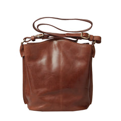 Image 1 of the 'Palermo' Tan Leather Bucket Bag