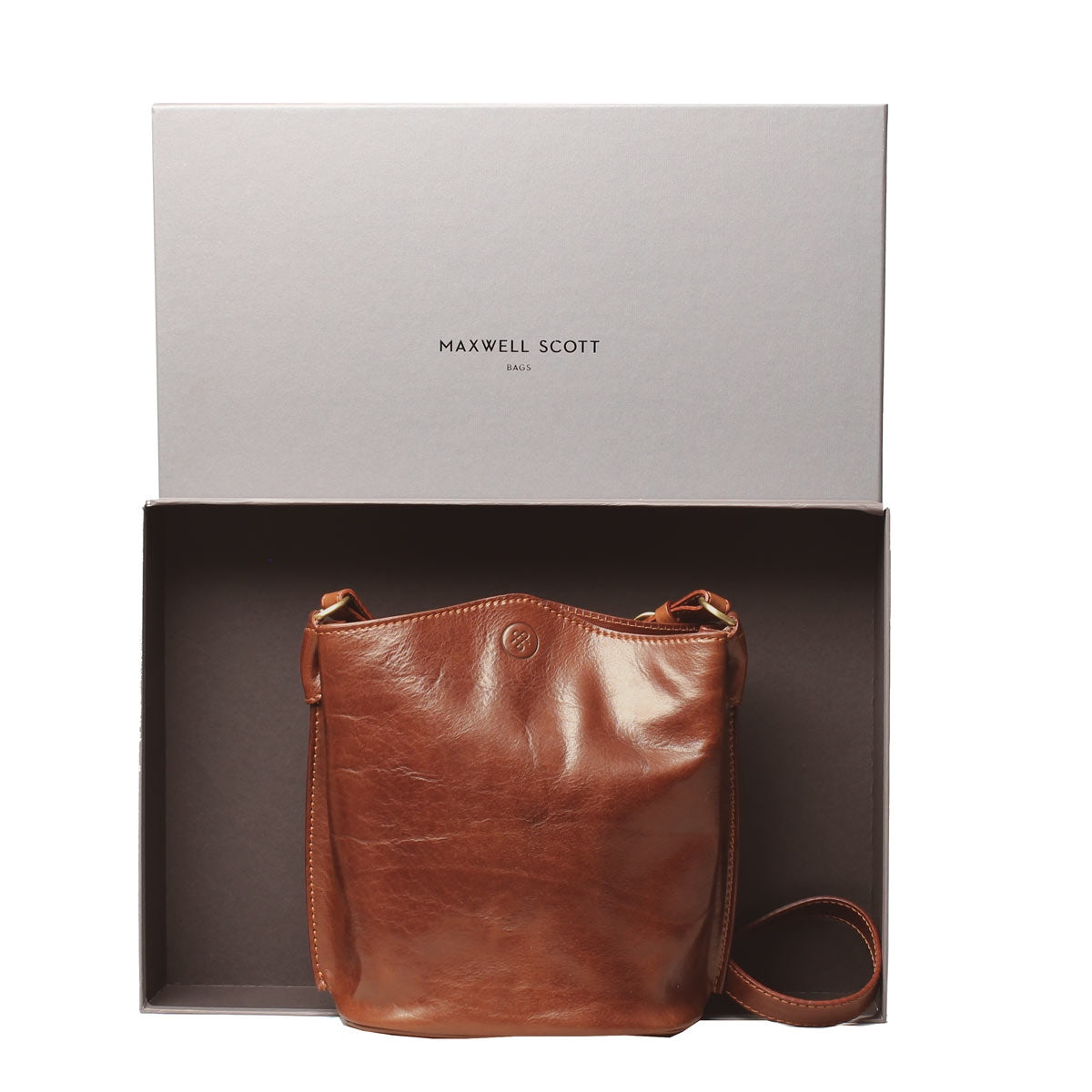 Image 5 of the 'Palermo' Tan Leather Bucket Bag